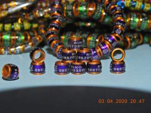 Ring donat MK ungu list gold